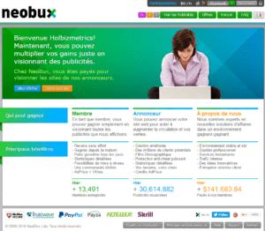 NeoBux Start Page