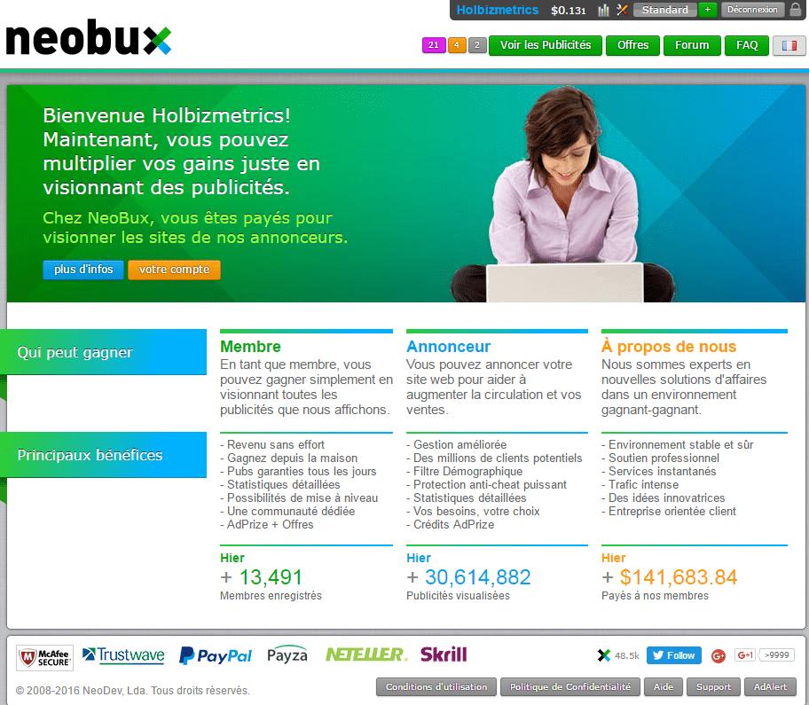 NeoBux-StartPage