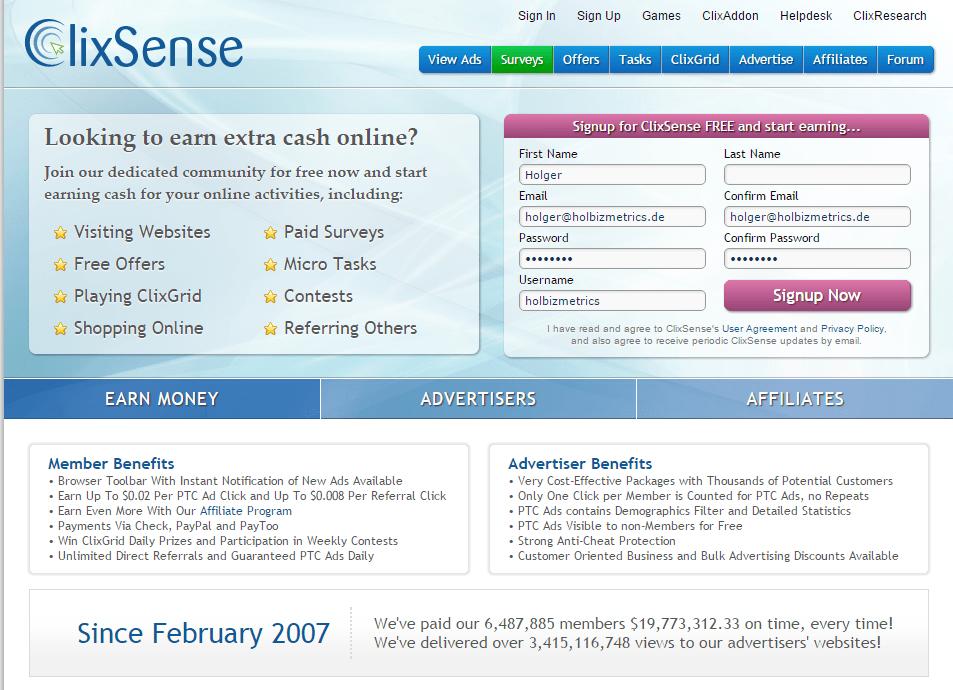 ClixSense_HomeScreen_FilledOut