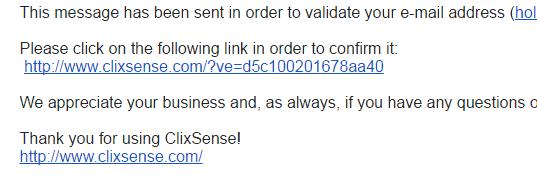 ClixSense_ValidationEmail