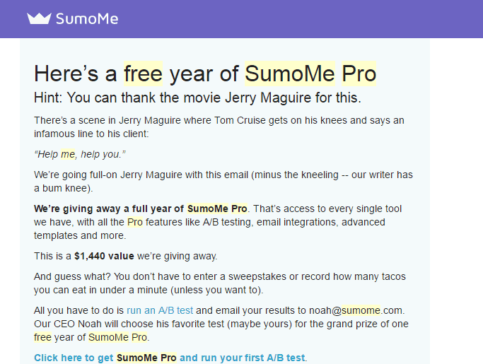 Free Year SumoMe Pro