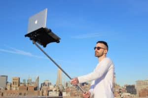 use selfie stick differently